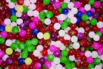 8000082--每条200--8mm净色玻璃珠--混装