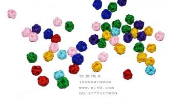 8000080--每包100个--10mm线球型小花托--混色
