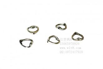 8205126--每包100个饰品小藏银配件--桃心