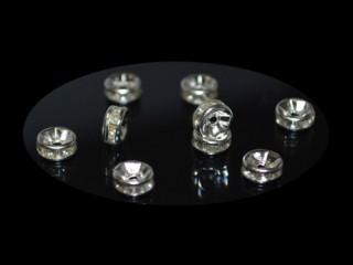 8205127--每包200个--6mm金属垫片水钻--白色