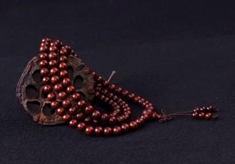8000420--每包50条--8号216颗小叶紫檀佛珠手链