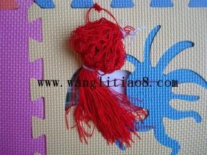 8000060--每包100个--双线台湾线中国结--红色