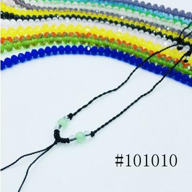 8000684--每包100个--可伸缩带玉珠细线项链--黑色
