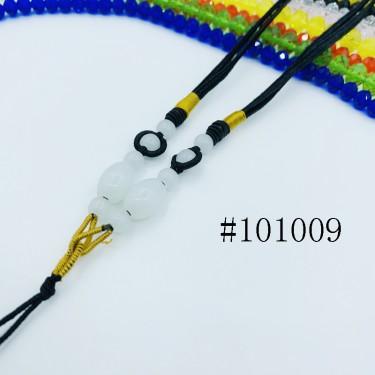 8001153--每包100条--多珠多水晶项链--黑色